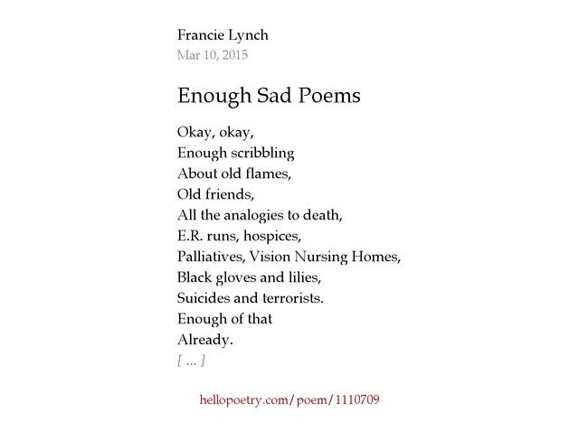 Summary -> Sad Poems Depression And Suicide Poems Love Poetry Sad