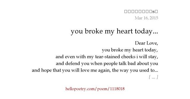 Enlightone: You Broke My Heart Today... By Effaced