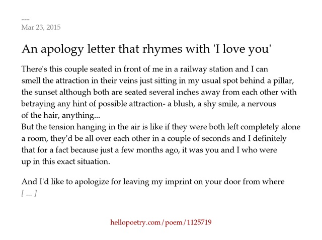 An apology letter that rhymes with I love you by teaxstains – Apology Love Letter