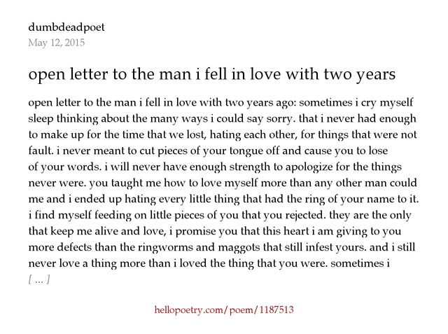 a letter to the man i love