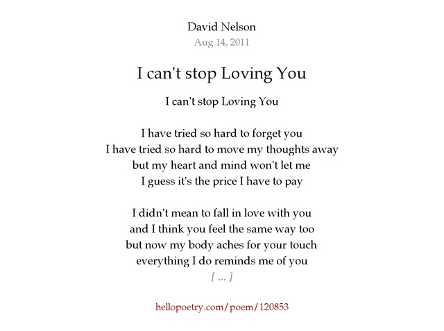 Poems About Love You Can T Have