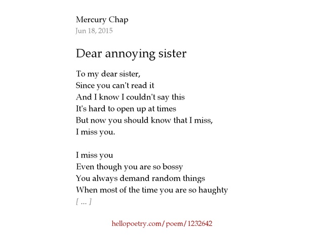 Sister Poems 63986 Loadtve
