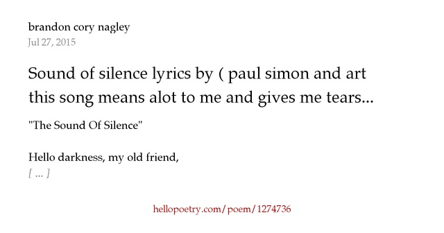 Lyrics to paul simon songs