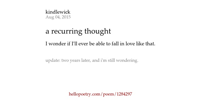 A recurring thought by kindlewick hello poetry - Nuance de blanc ...