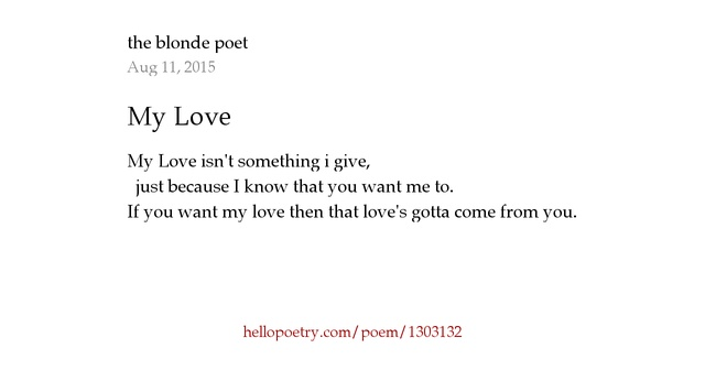 Blonde Poems 43