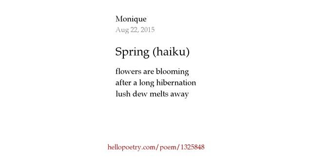 haiku poems about spring - photo #40