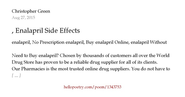 enalapril adverse effects