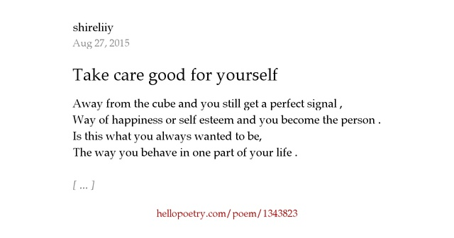 how to write a good poem about yourself