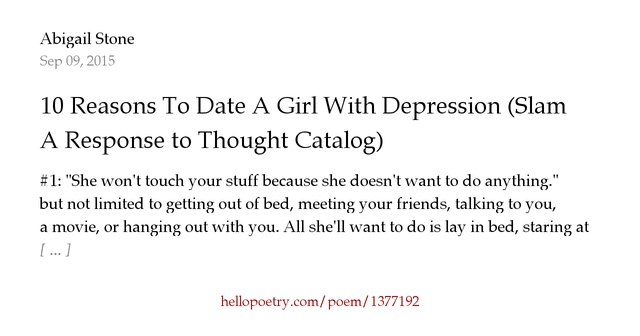 Advice for dating a girl with depression