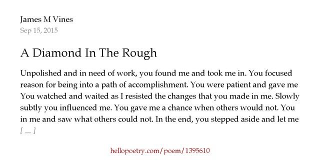 diamond in the rough poem - photo #3