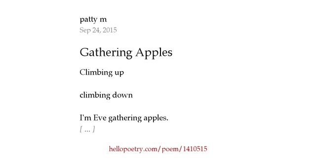 an apple gathering poem Cowboy poetry: a gathering [hal cannon] on amazoncom free shipping on  qualifying offers this collection of poems was chosen from among 10, 000.