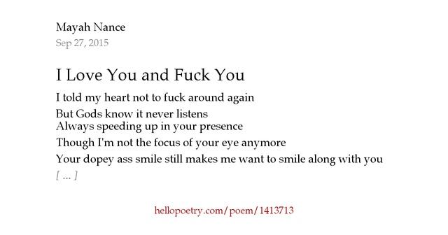 Fuck Love Poems 56