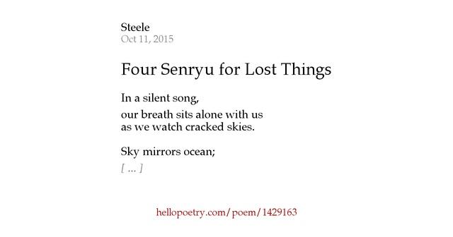 Four Senryu for... Lying Lips Song