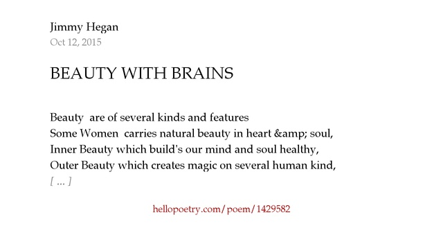 BEAUTY WITH BRAINS By Jimmy Hegan