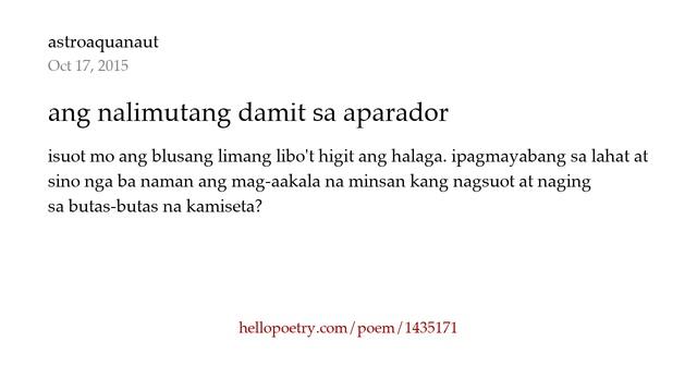 Armario Plancha Camisas ~ ang nalimutang damit sa aparador by astroaquanaut Hello Poetry
