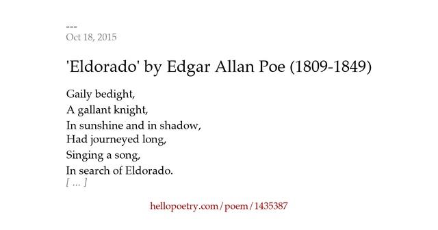 Eldorado (poem)