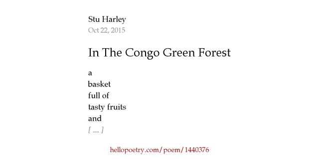 the congo poetry meaning