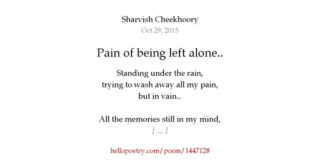 the pain of being alone Read chapter nine: the pain of being alone from the story nine tails by acthecat with 749 reads omegaverse, sasunaru, sainaru -flashback- naruto's pov: i ra.