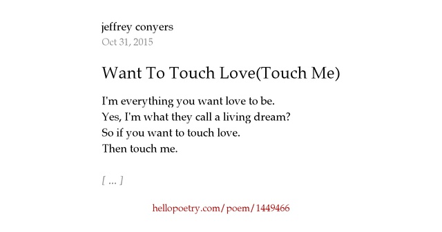 Touch me poem