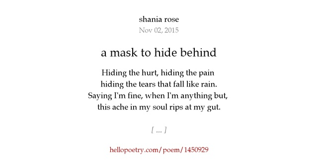 The Mask Poem by LemingX on DeviantArt |Hiding Behind The Mask Poem