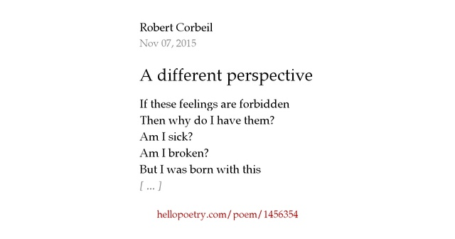 how to write a perspective poem