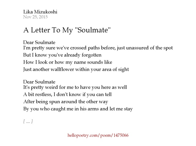 letter to my soulmate letter to my soulmate vibrating with the universe august 143