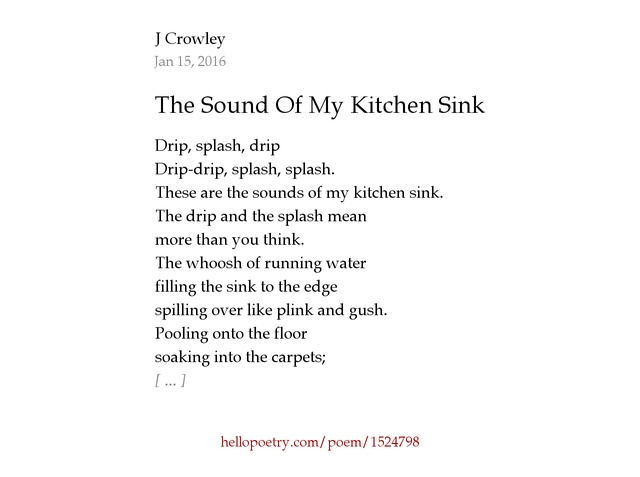 the sound of my kitchen sink by zeldaxlove64   hello poetry  rh   hellopoetry com