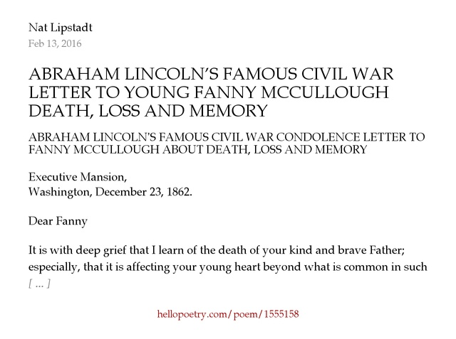 Abraham LincolnS Famous Civil War Condolence Letter To Young
