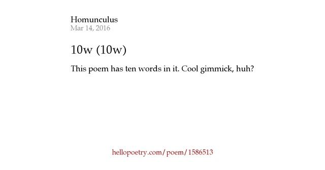 Homunculus - Words