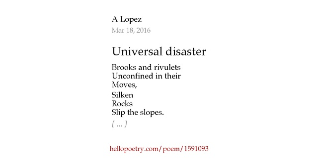 poetry and universal poem The poem farm is a safe place for children to explore poems, and it's a place for teachers to find poetry teaching ideas i post on fridays during the school year, and i welcome you to make.