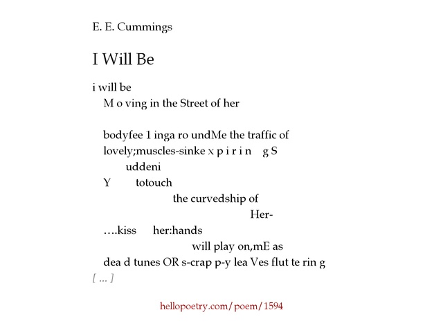 e e cummings biography essays This saved me, english-ap project for ee cummings= biography, citation, 10 written poem analysis thanks for the biography comment about this article, ask questions, or add new information about this topic:.