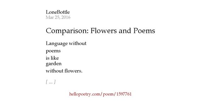 a comparison of three poems This lesson analyzes the characteristics of lyric poetry several types of lyric poetry are described with examples demonstrating the construction.
