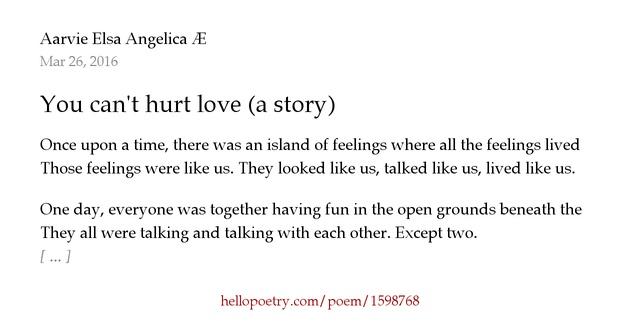 hurt feelings poems - photo #42
