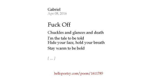 Fuck Off Poems 121