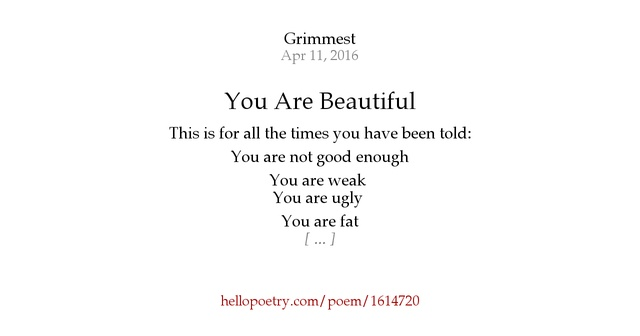 you are so beautiful poem
