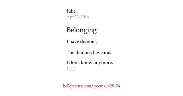 belonging poem