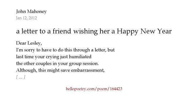 new year letter a letter to a friend wishing a happy new year by 23774 | fb