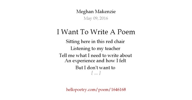 I Hate You Dad Poems: I Want To Write A Poem By Meghan Makenzie