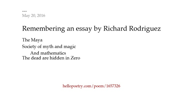 Richard rodriguez essays