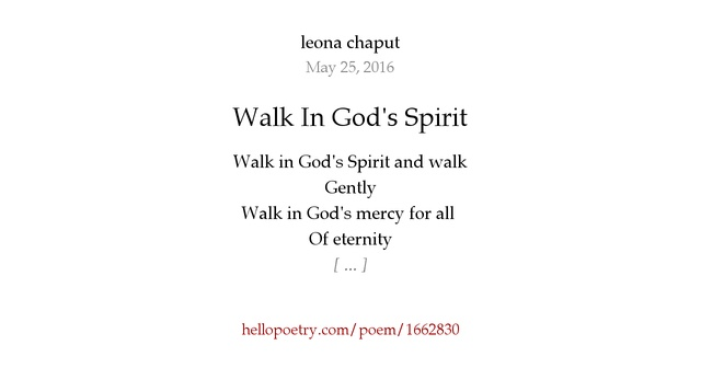 how to walk in the spirit of god