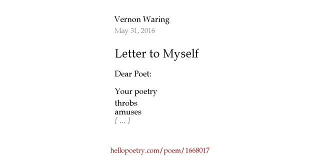 a letter to myself poem letter to myself by vernon waring hello poetry 23991 | fb