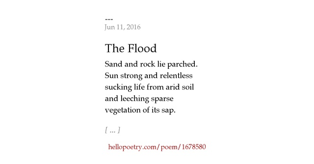 The Flood by --- - Hello Poetry