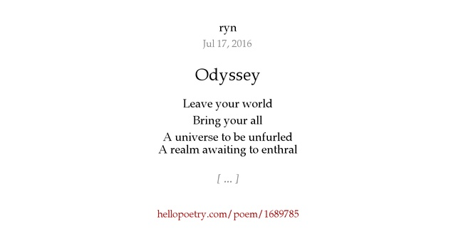 an analysis of the poem the odyssey Essential, epic poem of greek gods, monsters, and heroes read common sense media's the odyssey review, age rating, and parents guide.
