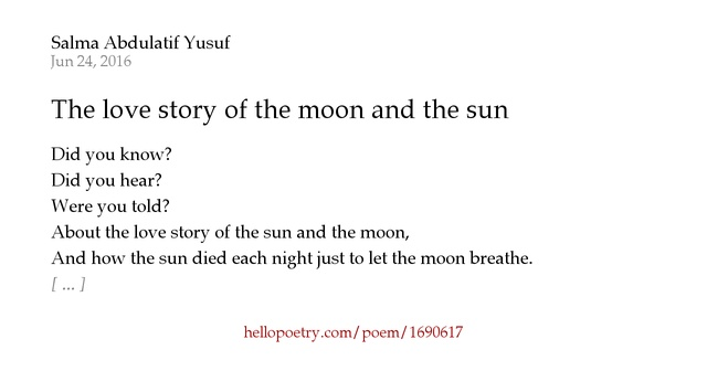 Sun And Moon Love Story Wwwpicsbudcom