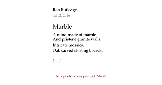 Marble by rob rutledge hello poetry