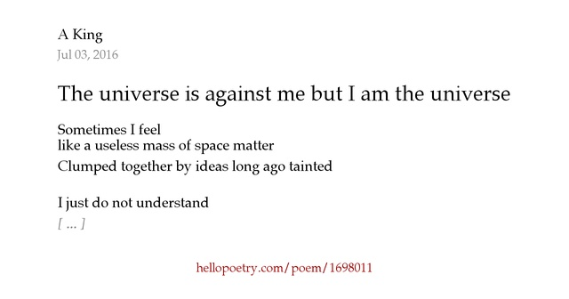 i am the universe essay