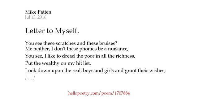 a letter to myself poem letter to myself by mike patten hello poetry 23991 | fb