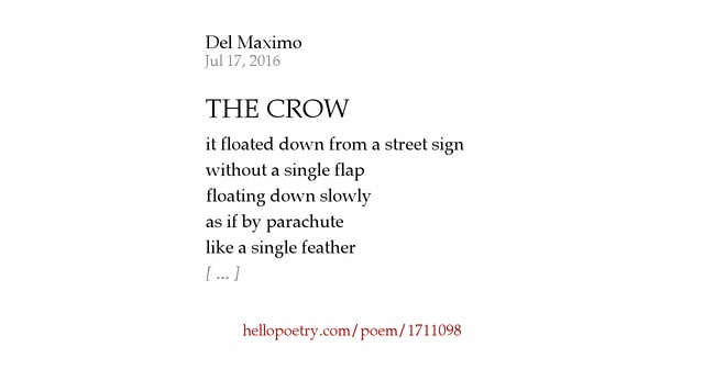 Three black crows poem