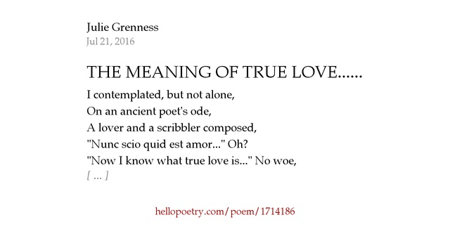 real meaning of poetry