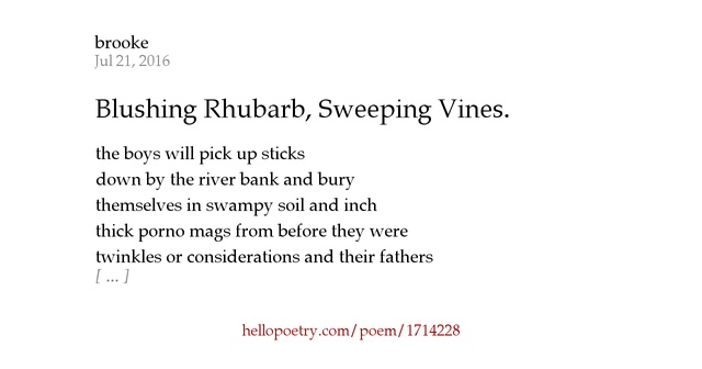 analysis of the poem blushing The country maid is blushing under the weight of envy for this refined former country maid as the author  the ruined maid poem by thomas hardy  a critical analysis of the poem reveals that there is a stream of recurrent themes presented that provides good grounds to argue that the poem is within the ballad writing tradition in a.